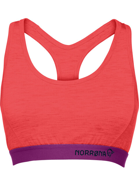 Norrøna Wool Sports Bra Women red
